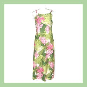 Tommy Bahama Hawaiian Cruise Tropical Silk Dress